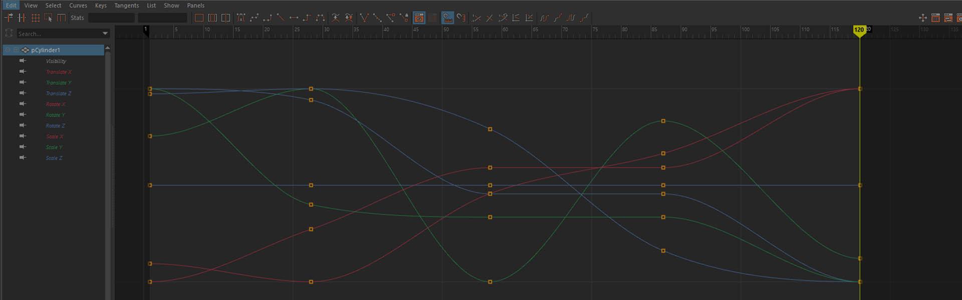 Graph Editor в Maya. Полное знакомство
